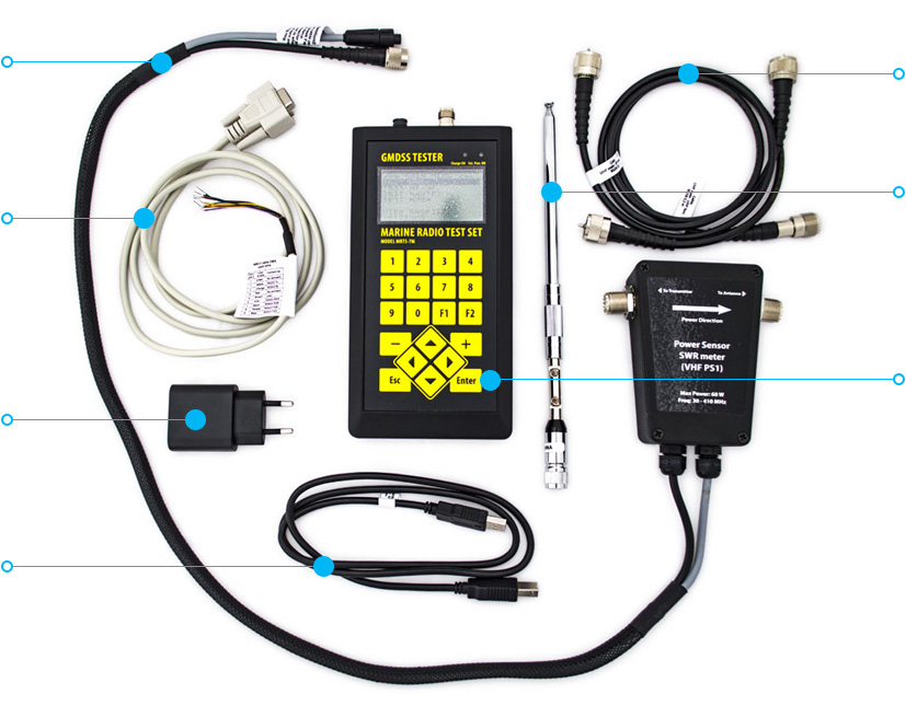 GMDSS Multi Tester MRTS-7M Complete Set